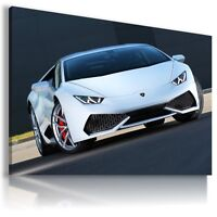 LAMBORGHINI HURACAN WHITE Car Large Wall Art Canvas Picture AU473  MATAGA .