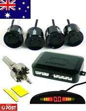 *Parking Sensor Car LED Display 4 Four Reverse backup Radar System Black AU
