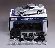 Maisto 1:24 2009 NISSAN GTR R35 Assembly DIY Racing Car Toy Diecast MODEL KITS