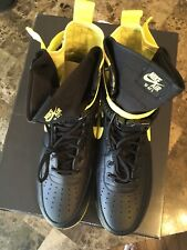 Nike Air Force 1 AF1 SF High Dynamic Yellow Black Men's Size 13 New In Box!!
