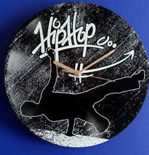 Vinyl Schallplatten-Uhr, Geschenk,Retro Wanduhr, Deko,Breakdance, Motiv: Hip Hop