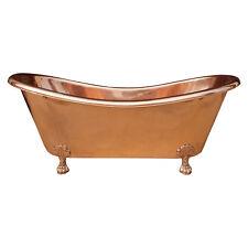 Bañera Pata de garra cobre acabado de cobre Completo | Baño residuos emergente incluido