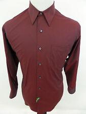 Roberto Villini Collezione Men's Long Sleeve Dress Shirt Burgundy Size 16 32/33