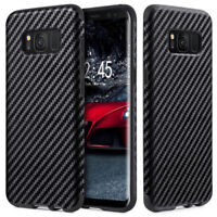 Shockproof Carbon Fiber Slim Cover Case for Samsung S7 / S7 Edge / S8 / S9/ Plus