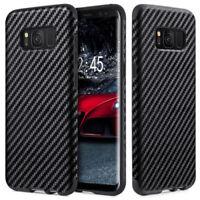 Shockproof Carbon Fiber Slim Cover Case for Samsung S7 / S7 Edge / S8 / S9/ Plus
