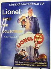 Greenberg's Guide to Lionel Paper and Collectibles 1990 1st Ed Osterhoff Trains