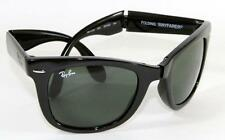 New Genuine Ray Ban RB 4105 601 Folding Wayfarer Glossy Black Sunglasses 50mm