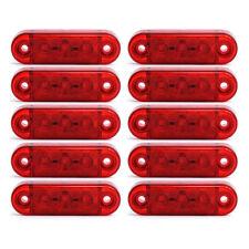 10x 12/24V 3 SMD LED Rouge Feux Remorque Indicateur Marqueur Latéral Camion