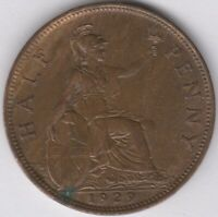1929 George V Halfpenny | British Coins | Pennies2Pounds