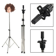 Adjustable Wig Head Stand Mannequin Tripod Holder for Hairdressing Training Hot