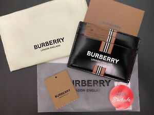 New Burberry Card Holder 4 Slot Check 100% Authentic!