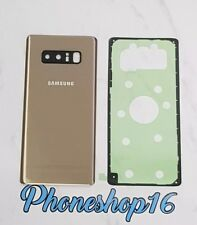 Original Samsung Galaxy Note 8 N950F Akkudeckel Deckel Backcover Gold + Kleber