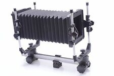 CAMBO 4X5 VIEW CAMERA. ROTATING GROUND GLASS HOLDER, TRIPOD CLAMP ETC.