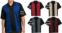 Mens Camp Shirt Casual Colorblock Tropical Bowling Two Tone S M L XL 2XL 3XL 4XL