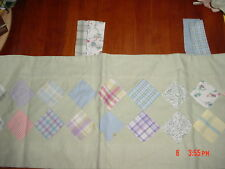 VALANCE quilt patches flowers plaid green Sienna Patch Sage Tab Top NEW Kidsline