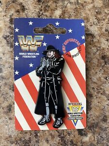 WWF The Undertaker Pin Badge/Brooch On Card 1990s