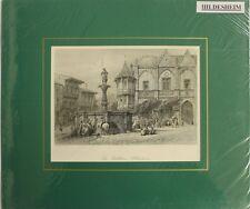 Rathaus mit dem Rolandsbrunnen Hildesheim, Stahlstich 1880    (gr5010)