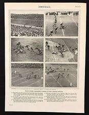 Stampa D'EPOCA / PIASTRA 1929 Encyclopedia Britannica, CALCIO, University Games USA