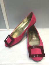 100% authentic Roger Vivier suede pink flats