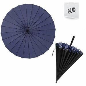 Travel Parasols Rain Umbrella Long Handle Golf Umbrellas Strong Double Windproof