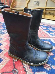 Bisgaard Black Leather Boots Sz 34