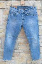 Dondup George Jeans uomo lavaggio chiaro vintage men denim trouser tg.33 It 47