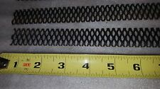 "Lot of 4 pieces MMO coated expanded titanium mesh anodes - 1"" x 10"""