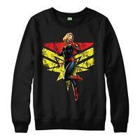 Captain Marvel Jumper Avengers Superhero Gift Unisex Men Women Kid Jumper Top