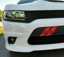 Custom Hash Marks Front Bumper Decal Fits Dodge Charger 2015-2020