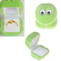 1PC Cute Velvet Frog Jewllery Ring Gift Box Earrings Necklace Storage Case  DS