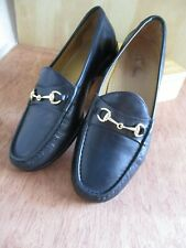 Cole Haan CO2498 Ascot black leather gold horsebit classic preppy loafers 11.5W