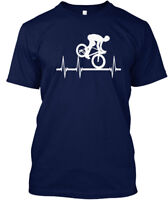 Bicycle Cross In My Heartbeat Hanes Tagless Tee T-Shirt