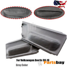 Door Panel Insert Cards Leather Synthetic for Volkswagen Beetle 1998-2010 Gray