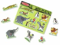 Melissa & Doug ZOO ANIMALS SOUND PUZZLE Pre-School Wooden Toys Games BN