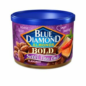 ALMONDS SWEET THAI CHILI Blue Diamond BOLD Flavored EXOTIC SPICES (6 oz x 1 can)