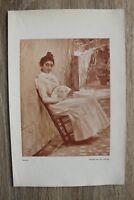 Kunstdruck 1 Blatt 1905/06 Carmen nach Gemälde von José Villegas Kunst Frau +++