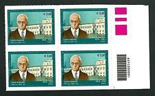 Italia Repubblica 2012 : Luigi Einaudi - quartina con codice a barre
