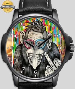 Funny Monkey Showing Finger Stylish Quality Wrist Watch UK Seller