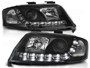 AUDI A6 SEDAN WAGON 1997 1998 1999 2000 2001 LPAU38 HEADLIGHTS LED