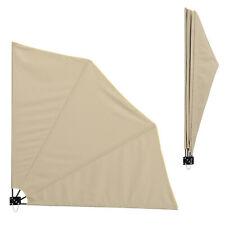 casa.pro® Balkonfächer Sichtschutz Beige Seitenmarkise Balkon Sonnen Wind Schutz