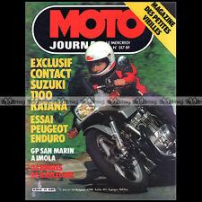 MOTO JOURNAL 517 SUZUKI GSX 1100 KATANA GUZZI 850 LE MANS PEUGEOT 80 ENDURO 1981