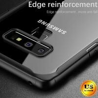 For Samsung Galaxy Note 9 Shockproof Clear Protective Bumper Hard Case Cover