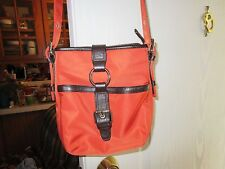 Orange and Brown Shoulder Bag from Talbots- Leather and Nylon