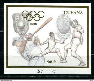 Guyana 1996 Olympic Sheet No gum  11331
