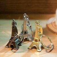BL_ Metal Paris Eiffel Tower Pendant Keychain Keyring Keyfob Key Ring Gift Sanwo