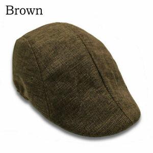Mens Peaky Golf Driving Hat Caps Flat Cap Cabbie Beret Hat Country Boys Newsboy