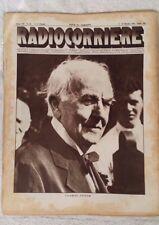 RADIOCORRIERE EIAR 1931 VII N° 40 THOMAS EDISON, FADA RADIO, RADIO CROSLEY