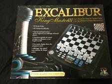 Excalibur Kingmaster III 3 Electronic 2 in 1 Chess Checkers Set 911e Challenge