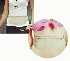 Bolsa de viaje bolsa de dinero de bolsillo oculto de seguridad compacto cintura