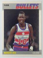 1987-88 Fleer Manute Bol #13, Washington Bullets